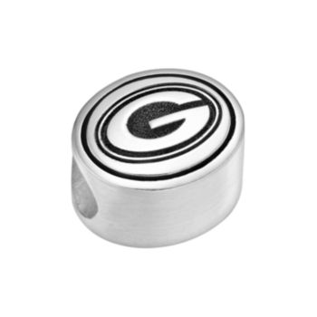 Sterling Silver Green Bay Packers Logo Bead