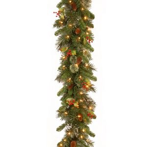 9-ft. Pre-Lit Berry, Pine Cone & Snowflake Garland