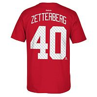 Men's Reebok Detroit Red Wings Henrik Zetterberg Premier Tee