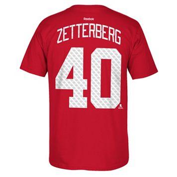 Men's Reebok Detroit Red Wings Henrik Zetterberg Premier Tee