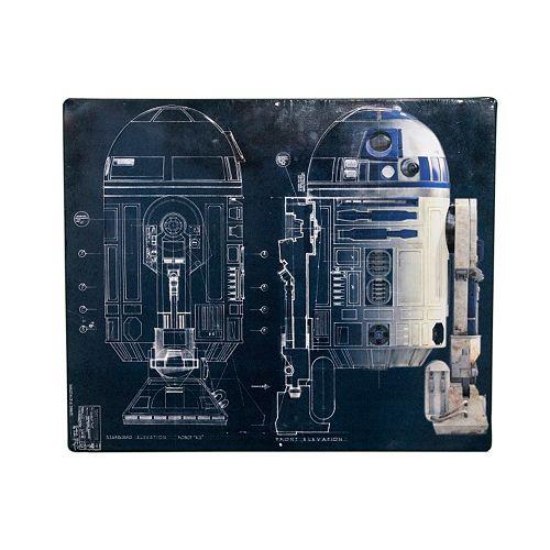 Star Wars R2D2 Schematic Wall Art