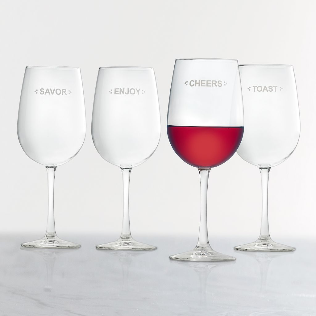 Food Network™ Sentiments 4-pc. Wine Glass Set