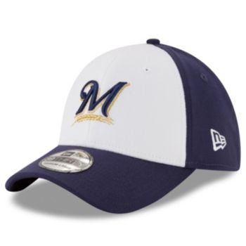 Adult New Era Milwaukee Brewers 39THIRTY 2 Tone Flex-Fit Cap