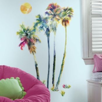 Watercolor Palm Trees Peel & Stick Giant Wall Decal