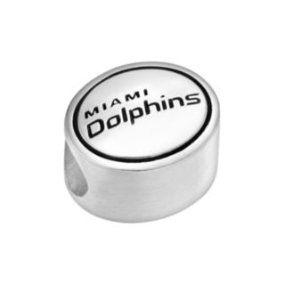 Sterling Silver Miami Dolphins Logo Bead