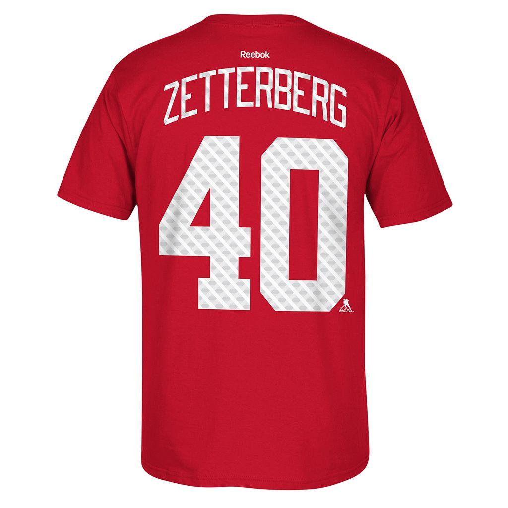Men's Reebok Detroit Red Wings Henrik Zetterberg Matrix Tee