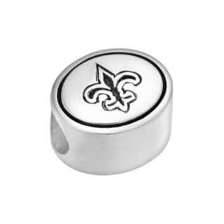 Sterling Silver New Orleans Saints Logo Bead
