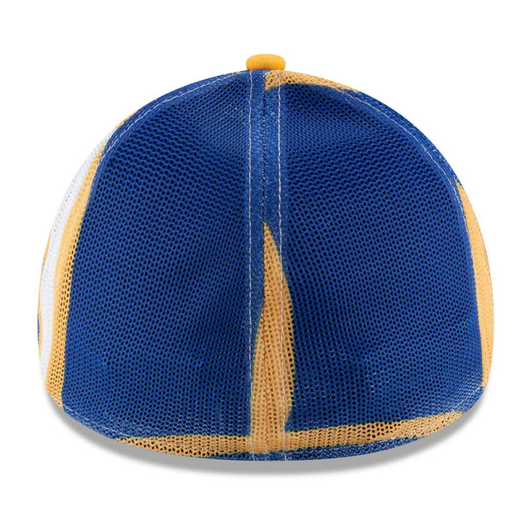 Adult New Era Milwaukee Brewers 39THIRTY Logo Wrapped Flex-Fit Cap