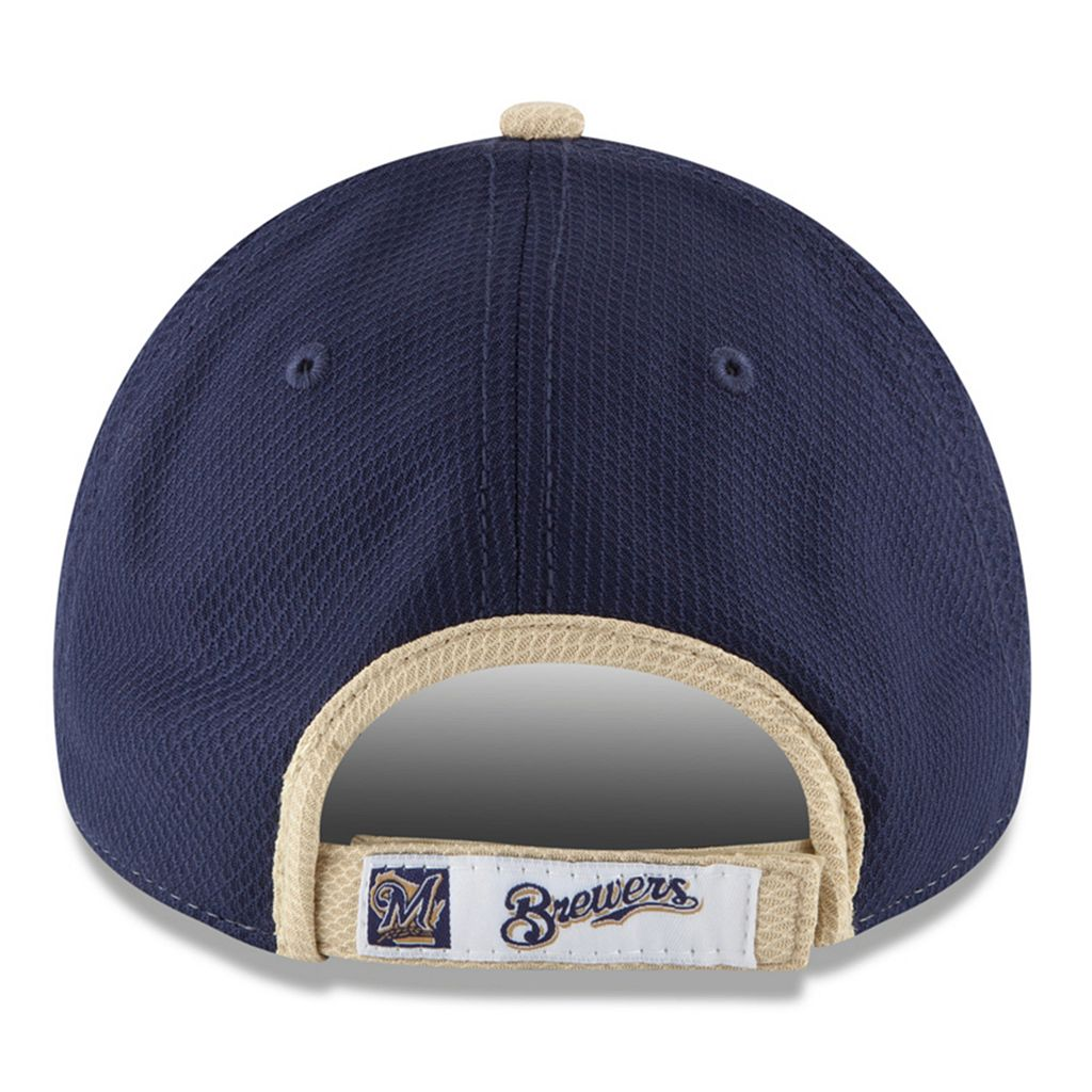 Adult New Era Milwaukee Brewers 9FORTY Performance Block Adjustable Cap