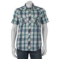 Men's Helix Plaid Button-Down Shirt