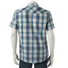 Men's Helix Plaid Button-Down Shirt