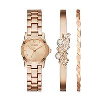 Folio Women's Watch & Geometric Bangle Bracelet Set