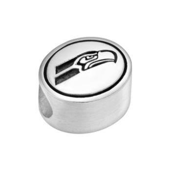 Sterling Silver Seattle Seahawks Logo Bead