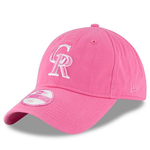 Women's New Era Colorado Rockies 9TWENTY Preferred Pick Pink Adjustable Cap