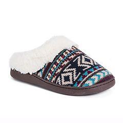MUK LUKS Women's Knit Clog Slippers