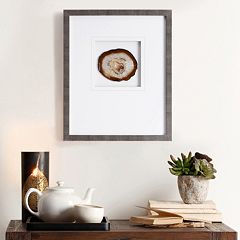 Madison Park Natural Agate Stone Framed Wall Art