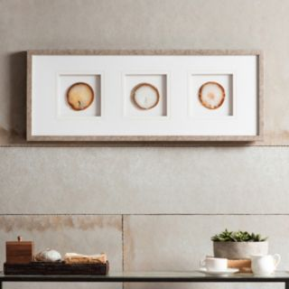 Madison Park Natural Agate Trio Stone Framed Wall Art