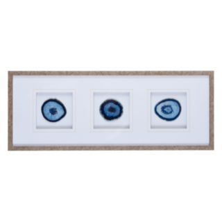 Madison Park Blue Agate Trio Framed Wall Art