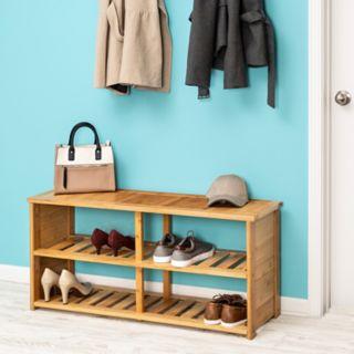 Honey-Can-Do Bamboo Shoe Bench