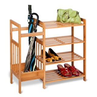 Honey-Can-Do Bamboo Entryway Organizer