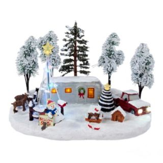 Battery-Operated LED Christmas Scene