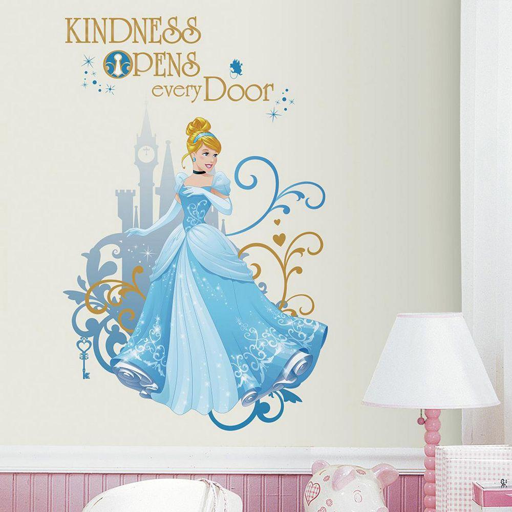 Disney Princess Cinderella Peel Stick Giant Wall Decal