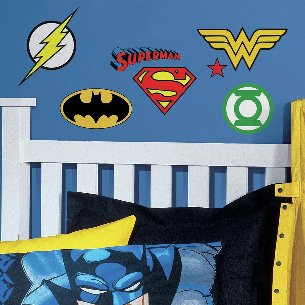DC Superhero Logos Peel & Stick Wall Decals