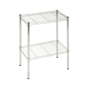Honey-Can-Do 2 Tier Chrome Utility Shelf