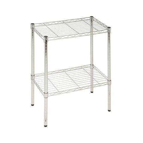 Honey-Can-Do 2 Tier Chrome Utility Shelf