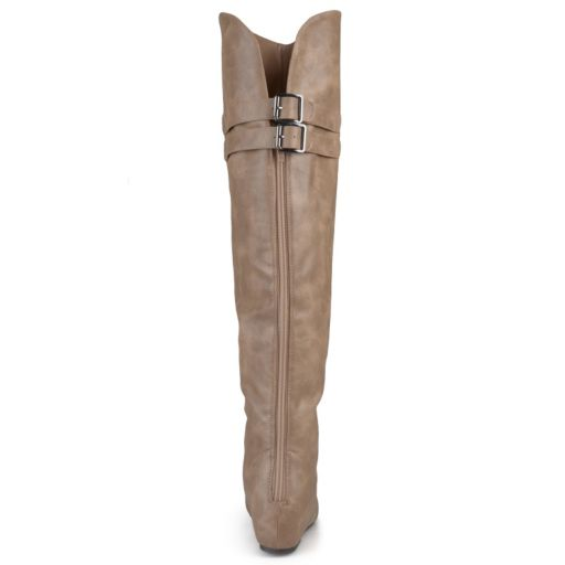 Journee Collection Angel Women's Over-the-Knee Wedge Riding Boots