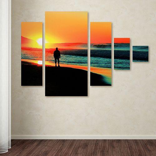 Trademark Fine Art ''Sunrise Walking'' 5-pc. Wall Art Set