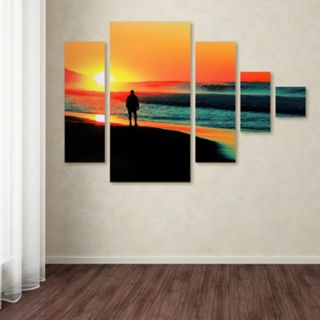 Trademark Fine Art ''Sunrise Walking'' 5-pc. Wall Art Set