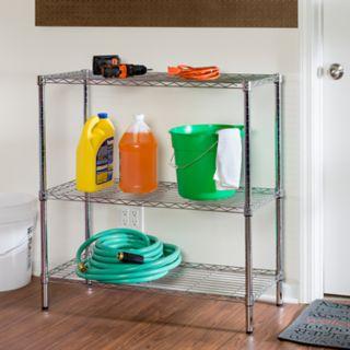 Honey-Can-Do 3 Tier Chrome Storage Shelves