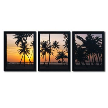 Trademark Fine Art ''Palm Dream'' 3-pc. Wall Art Set
