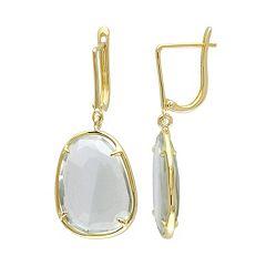 Green Quartz Sterling Silver Drop Earrings