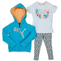 PUMA Toddler Girl Hoodie & Cheetah Leggings Set