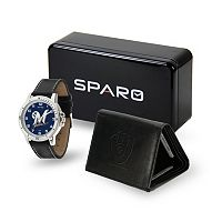 Men's Sparo Milwaukee Brewers Watch and Wallet Set