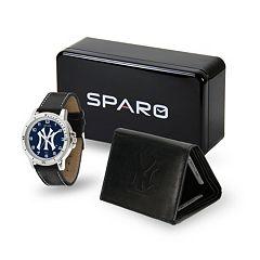 Men's Sparo New York Yankees Watch and Wallet Set
