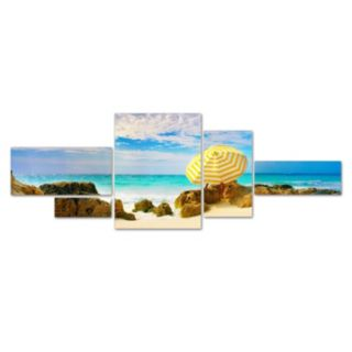 Trademark Fine Art ''Bermuda Umbrella'' 5-pc. Wall Art Set