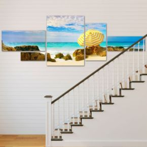 Trademark Fine Art ''Bermuda Umbrella'' 5-pc. Wall Art Set