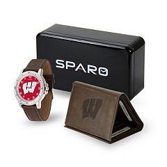 Sparo Wisconsin Badgers Watch and Wallet Set - Men
