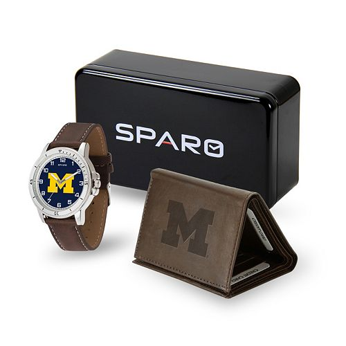 Sparo Michigan Wolverines Watch and Wallet Set - Men