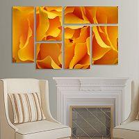 Trademark Fine Art ''Hypnotic Yellow Ro'' 6 pc Wall Art Set