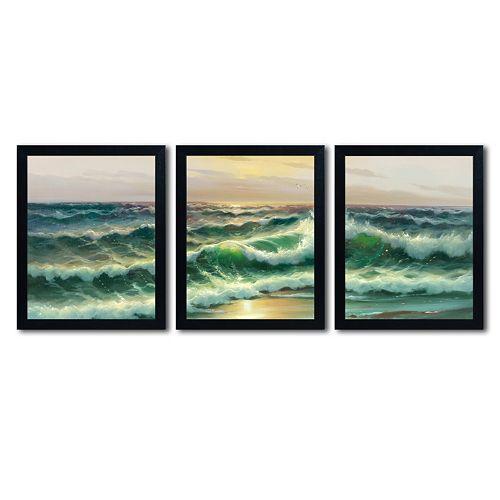 Trademark Fine Art ''Waves I'' 3-pc. Wall Art Set