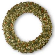 72 in Pre-Lit Wintry Pinecone, Berry & Snowflake Pine Artificial Wreath