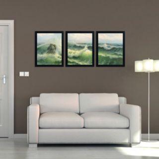 Trademark Fine Art ''Waves II'' 3-pc. Wall Art Set