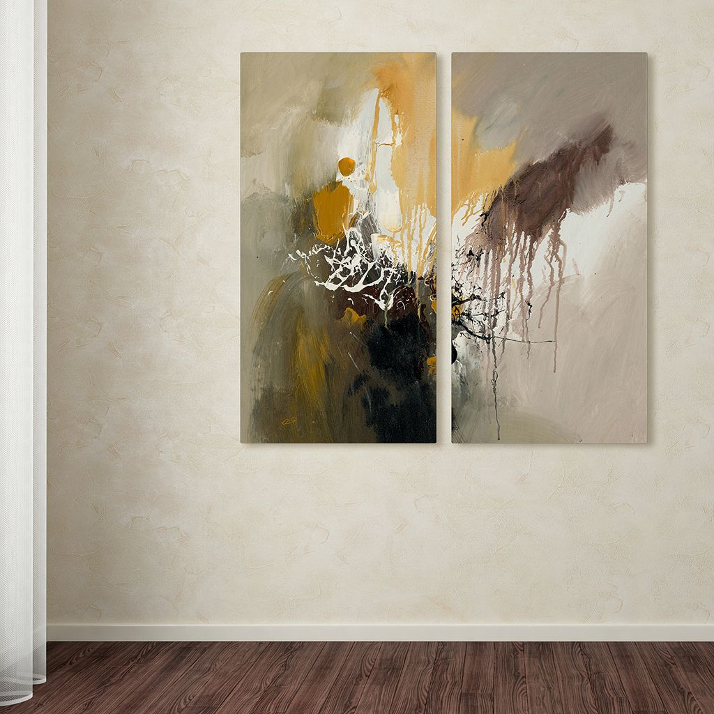 Trademark Fine Art ''Abstract I'' 2-pc. Wall Art Set