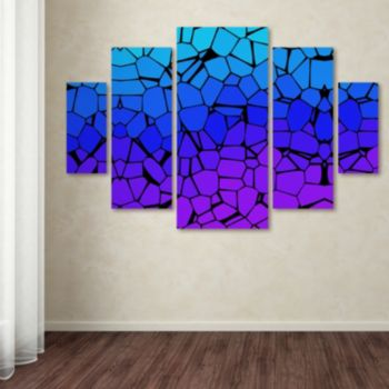 Trademark Fine Art ''Crystals Of Blue And Purple'' 5-pc. Wall Art Set