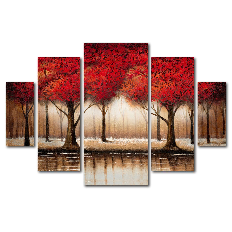 Trademark Fine Art u0027u0027Parade Of Red Treesu0027u0027 ...