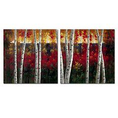 Trademark Fine Art ''Autumn'' 2 pc Wall Art Set